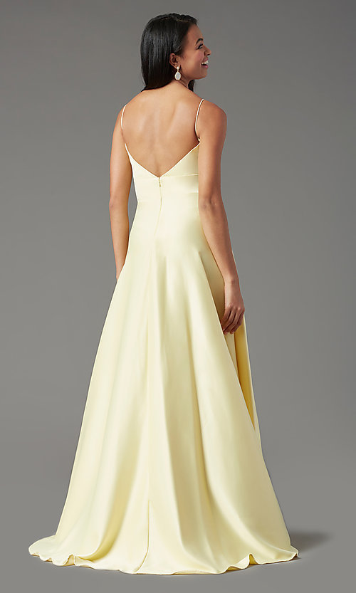 Image of open-back long formal prom dress by PromGirl. Style: PG-B2006 Detail Image 7