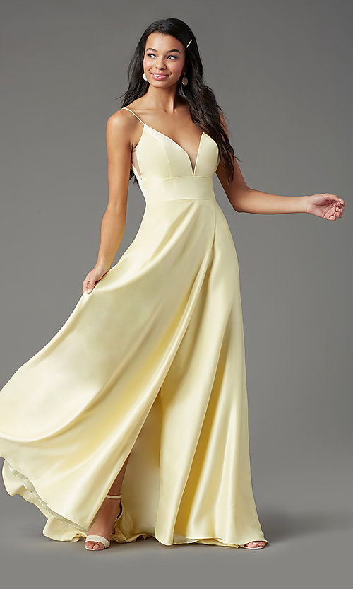 Image of open-back long formal prom dress by PromGirl. Style: PG-B2006 Detail Image 6