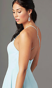 Image of long square-neck formal prom dress by PromGirl. Style: PG-B2011 Detail Image 2