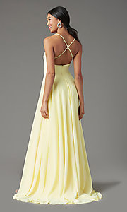 Image of long square-neck formal prom dress by PromGirl. Style: PG-B2011 Back Image