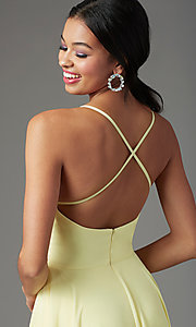 Image of long square-neck formal prom dress by PromGirl. Style: PG-B2011 Detail Image 1
