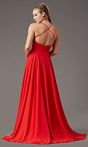 Image of long square-neck formal prom dress by PromGirl. Style: PG-B2011 Detail Image 8
