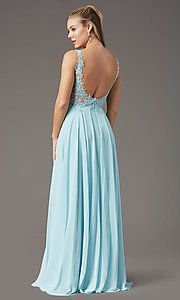 Image of beaded-bodice PromGirl long formal prom dress. Style: PG-B2014 Detail Image 7