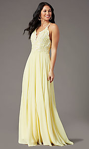 Image of long multi-strap open-back prom dress by PromGirl.  Style: PG-B2015 Detail Image 6