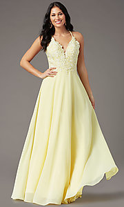 Image of long multi-strap open-back prom dress by PromGirl.  Style: PG-B2015 Detail Image 3