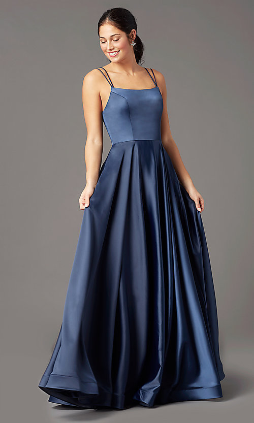 Image of a-line PromGirl prom dress with horsehair hem. Style: PG-B2027 Detail Image 6