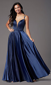 Image of PromGirl open-back long classic formal prom dress. Style: PG-F2002 Detail Image 6