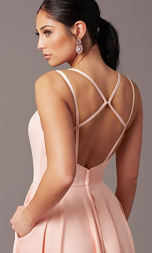 Image of PromGirl open-back long classic formal prom dress. Style: PG-F2002 Detail Image 5