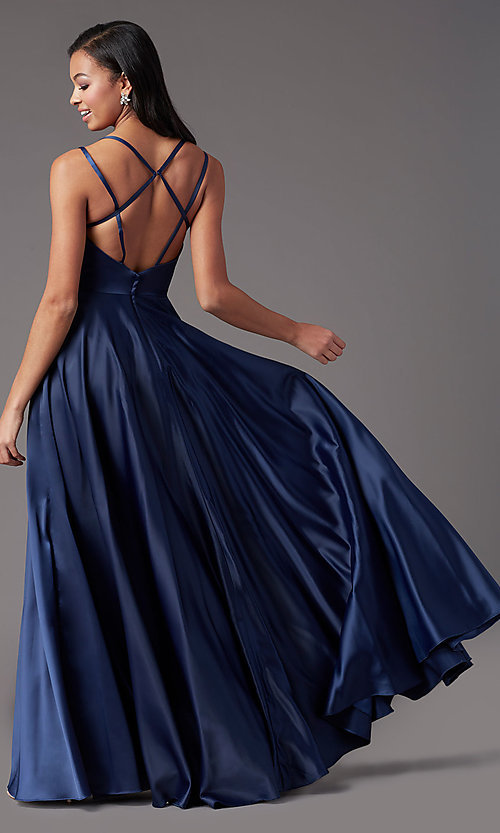 Image of PromGirl open-back long classic formal prom dress. Style: PG-F2002 Detail Image 7