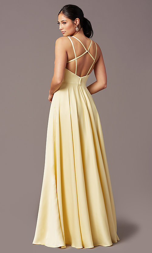 Image of PromGirl open-back long classic formal prom dress. Style: PG-F2002 Back Image