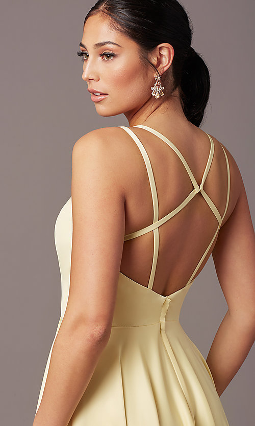 Image of PromGirl open-back long classic formal prom dress. Style: PG-F2002 Detail Image 1