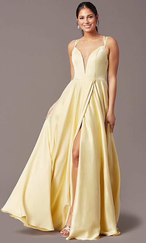 Image of PromGirl open-back long classic formal prom dress. Style: PG-F2002 Detail Image 2