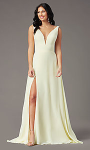 Image of long sleeveless formal prom dress by PromGirl. Style: PG-F2008 Detail Image 6