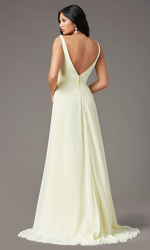 Image of long sleeveless formal prom dress by PromGirl. Style: PG-F2008 Detail Image 4