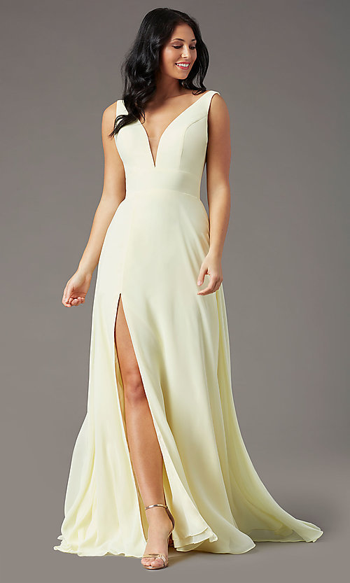 Image of long sleeveless formal prom dress by PromGirl. Style: PG-F2008 Detail Image 3