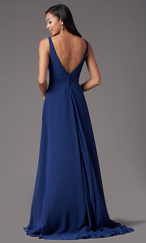 Image of long sleeveless formal prom dress by PromGirl. Style: PG-F2008 Back Image