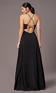 Image of PromGirl sweetheart long formal prom dress. Style: PG-F2011 Back Image