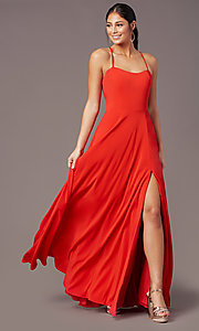 Image of PromGirl sweetheart long formal prom dress. Style: PG-F2011 Detail Image 7