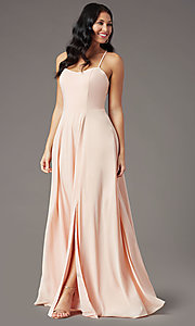 Image of PromGirl sweetheart long formal prom dress. Style: PG-F2011 Detail Image 6