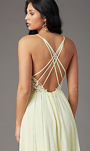 Image of PromGirl long formal prom dress with embroidery. Style: PG-F2014 Detail Image 5