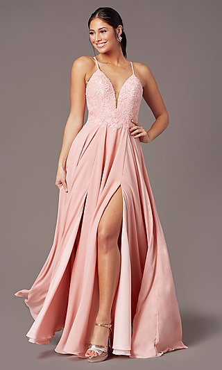 Cut-Out-Back Long Formal Prom Dress by PromGirl
