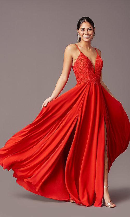 Image of cut-out-back long formal prom dress by PromGirl. Style: PG-F2015 Detail Image 7
