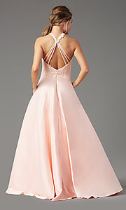 Image of illusion-sweetheart long prom dress by PromGirl. Style: PG-F2033 Detail Image 7