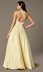 Image of illusion-sweetheart long prom dress by PromGirl. Style: PG-F2033 Detail Image 3