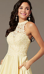 Image of illusion-sweetheart long prom dress by PromGirl. Style: PG-F2033 Detail Image 5