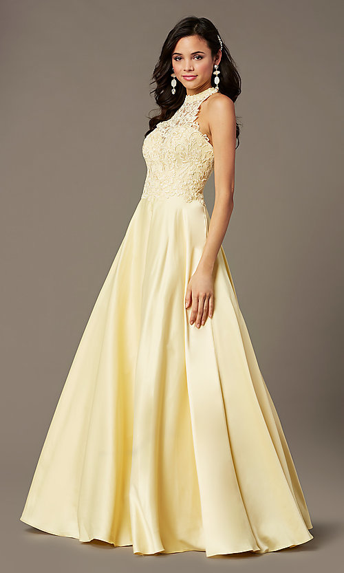 Image of illusion-sweetheart long prom dress by PromGirl. Style: PG-F2033 Detail Image 2