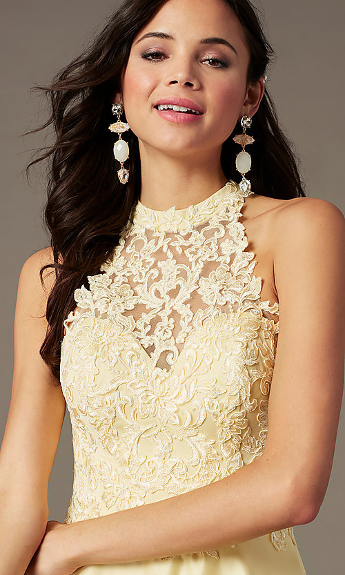 Image of illusion-sweetheart long prom dress by PromGirl. Style: PG-F2033 Detail Image 4