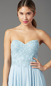 Image of PromGirl long strapless sweetheart prom dress. Style: PG-B2018 Detail Image 6