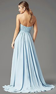 Image of PromGirl long strapless sweetheart prom dress. Style: PG-B2018 Detail Image 4