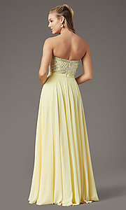 Image of strapless long formal prom dress by PromGirl. Style: PG-B2021 Back Image