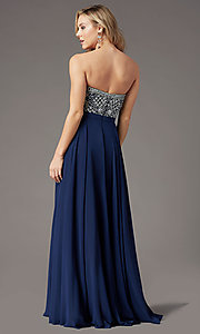 Image of strapless long formal prom dress by PromGirl. Style: PG-B2021 Detail Image 6