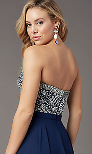 Image of strapless long formal prom dress by PromGirl. Style: PG-B2021 Detail Image 7