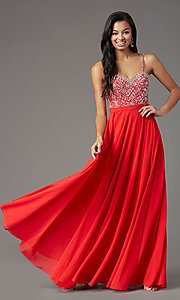 Image of strapless long formal prom dress by PromGirl. Style: PG-B2021 Detail Image 4