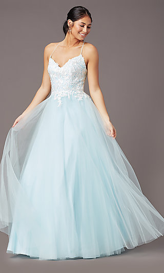 Ball-Gown-Style Long Formal Prom Dress by PromGirl