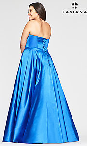 Image of Faviana strapless sweetheart plus-size prom dress. Style: FA-9497 Back Image