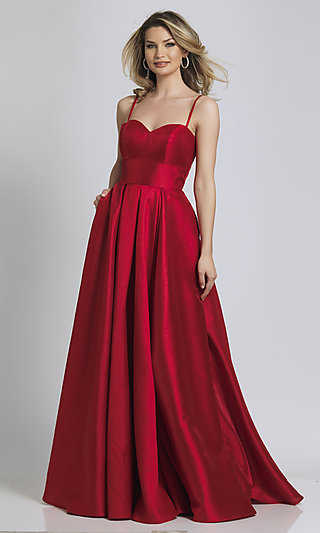 Red A-Line Formal Dress with a Sweetheart Neckline