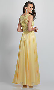Image of Dave and Johnny formal prom dress with embroidery. Style: DJ-A9037 Back Image