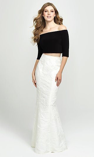 Off-the-Shoulder Two-Piece Mermaid Prom Dress