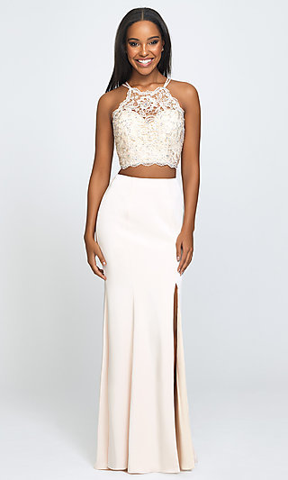 Madison James Long Two-Piece Formal Prom Dress