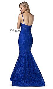 Image of iNtrigue by Blush long lace formal prom dress. Style: BL-IN-701 Detail Image 2