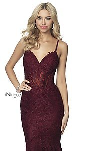 Image of iNtrigue by Blush long lace formal prom dress. Style: BL-IN-701 Detail Image 4