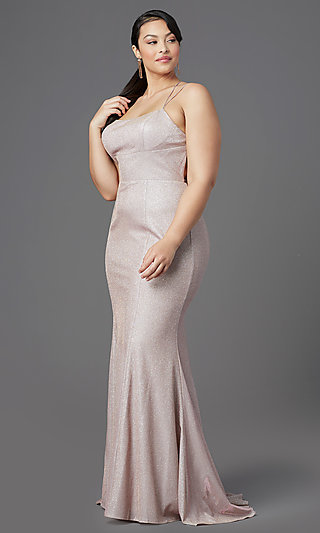 Corset-Style Long Plus-Size Prom Dress by PromGirl