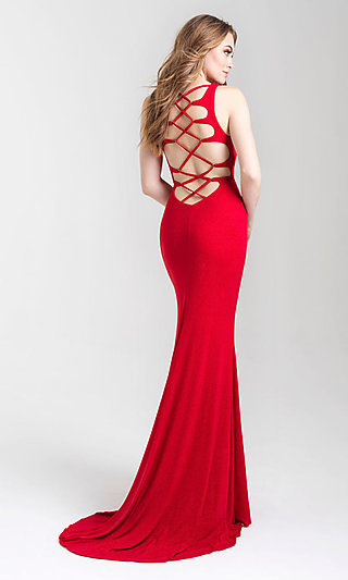 Long Tight Formal Prom Dress with Open Back