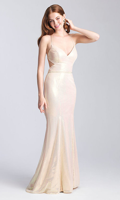 Image of long sequin formal prom dress by Madison James. Style: NM-20-345 Front Image