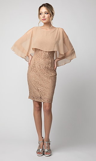 Lace Mother-of-the-Bride Short Dress