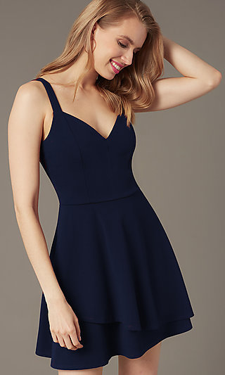Short Navy Casual Dress